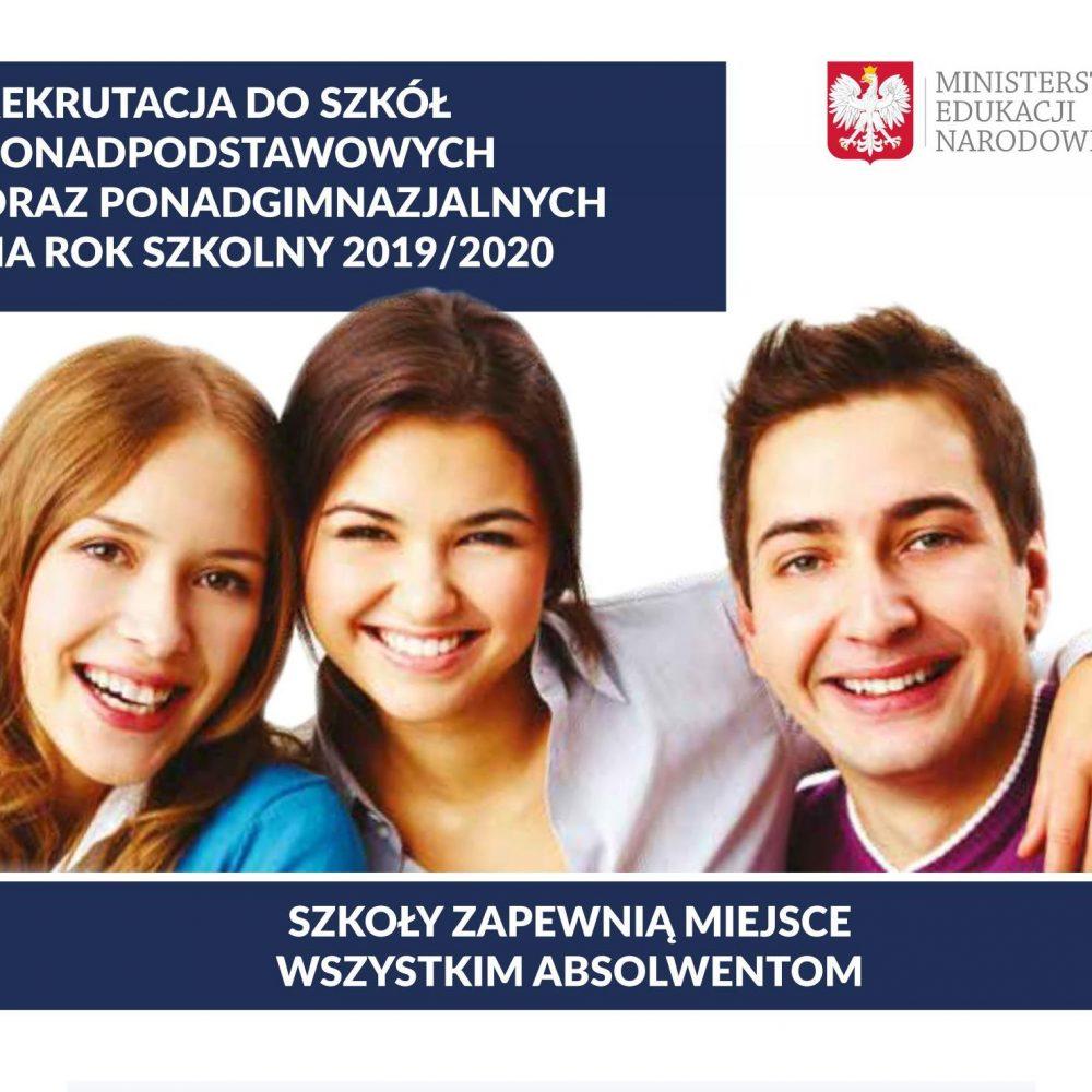 materiały informacyjne dotyczące rekrutacji na rok szkolny 2019/2020
