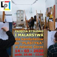 """Zajęcia z rysunku i malarstwa dla kandydatów do """"Plastyka"""" w Jeleniej Górze"""