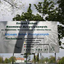 Nowa tablica przy wjeździe od ulicy Staszica